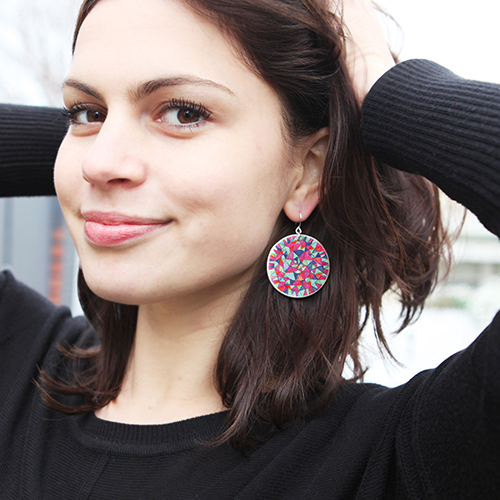 handmade mandala colourful earrings statement contemporary next romance jewellery australia made in melbourne