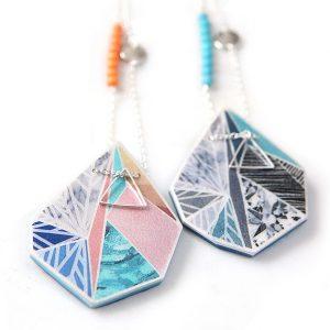 e snowflake art pendants by NEXT ROMANCE jewellery australia