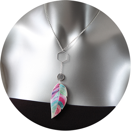 feather necklace next romance jewellery
