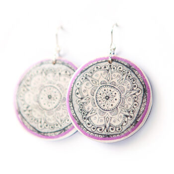 lilac statement henna art earrings NEXT ROMANCE jewels australia