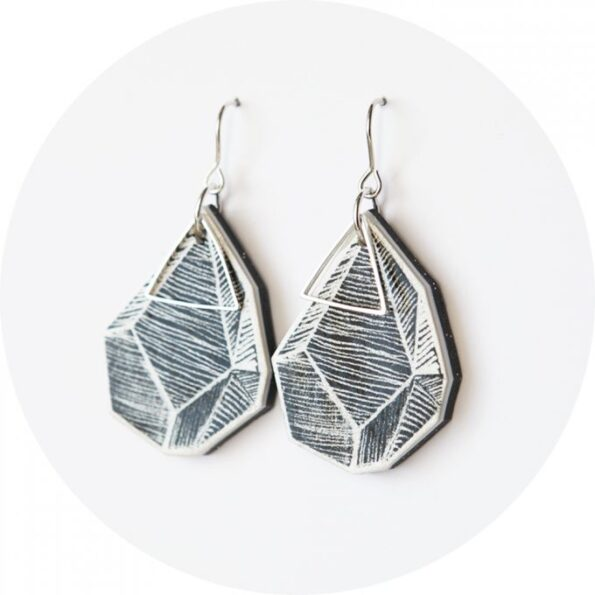 triangle-art-earrings-white-lines-black-art-680x680