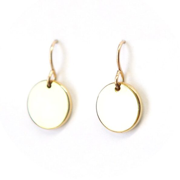 COIN simple geometric earrings – 12mm – silver, gold, rose gold