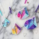next romance unique art jewellery australia colourful orange purple triangle