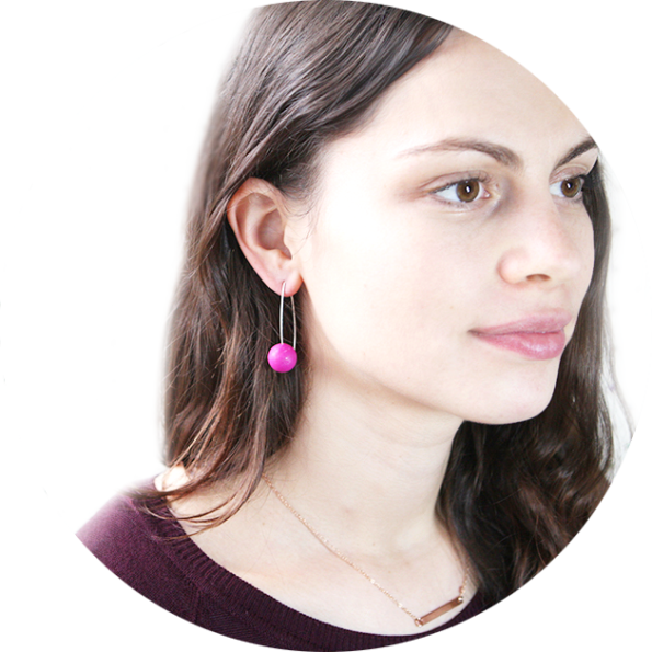 ball earrings on model 2017 next romance