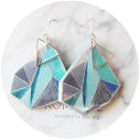 cyan blue triangle art earrings next romance jewellery vicki leigh