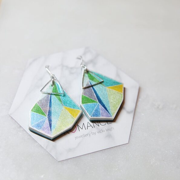 large-lime-aqua-triangle-art-earrings