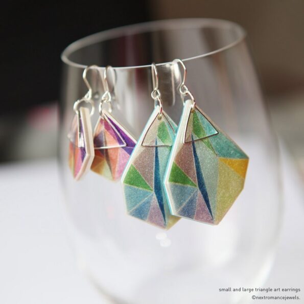 large-triangle-art-aqua-lime-earring-next-romance