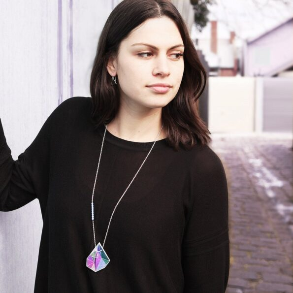 long-pink-triangle-art-necklace-vicki-leigh-next-romance-australia