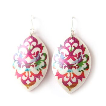 painterly-red-unique-art-earrings-boho-baroque