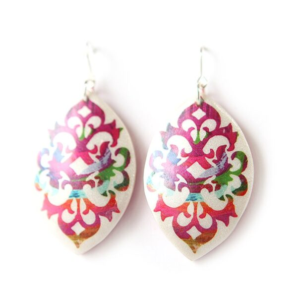 BAROQUE marquis art earrings – paint me red