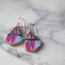 petite pink triangle art earrings ROSE GOLD vicki leigh NEXT ROMANCE jewels