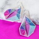 pink triangle art pink bgd NEXT romance jewellery australia funky earrings