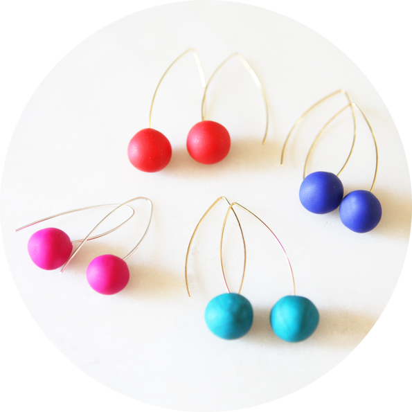plain ball earrings colourful next romance jewellery melbourne