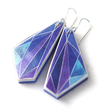 purple-violet-elytra-side-angle-art-earring NEXT ROMANCE jewels