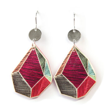 red line art rock earrings next romance jewellery melbourne design jewellery
