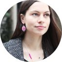 red pink boho baroque earring 30mm Next romance model