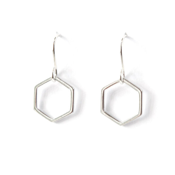 HEXAGON minimal geometric shape earrings