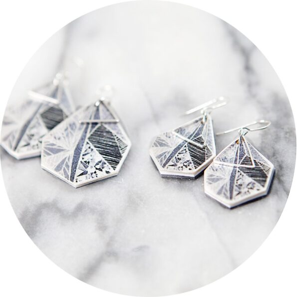 snowflake-geo-art-earrings-next-romance-black-grey-white-melbourne-architectural-jewellery