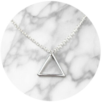 Modern and simple geometric necklace.