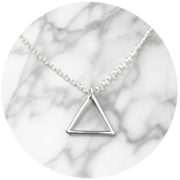 TRIANGLE simple geometric necklace