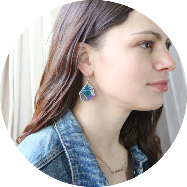 web julia blue rock art teal purple lines NEXT ROMANCE earring designs melbourne