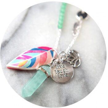 aventurine-pendulum-feather-boho-cluster-necklace