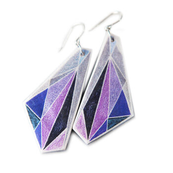 elytra mauve earring design etch wing boho contemporary art jewellery new next romance australia