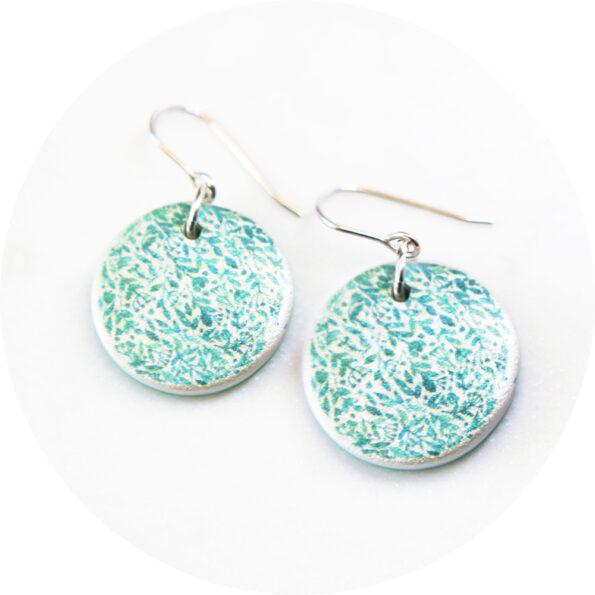 green floral coin art earrings garden New Next Romance jewellery australia