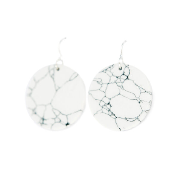 MARBLED coin modern earrings – 15 or 25mm