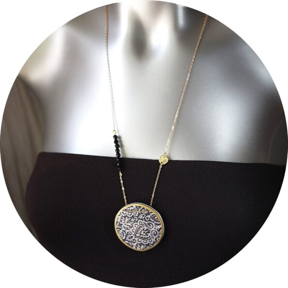 new-next-romance-jewellery-melbourne-designer morocco-art-pendant-black-gold