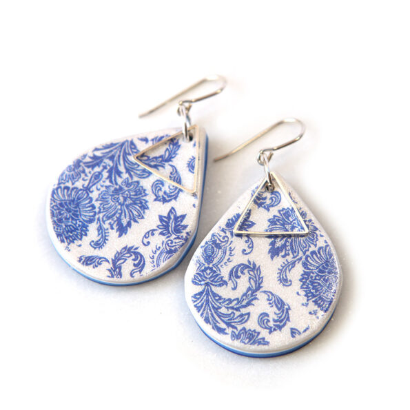 PORCELAIN pattern teardrop earrings