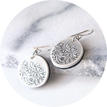 small crysanthemum art earring delicate next romance jewellery design