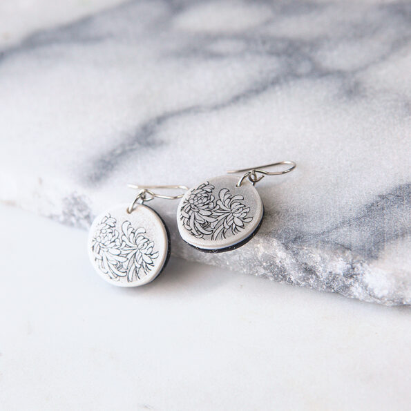 small crysanthemum art earring 4 delicate next romance jewellery design