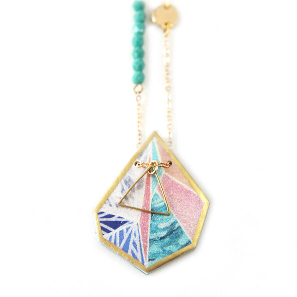 sunset snowflake wearable art pendant necklace NEXT ROMANCE jewellery australia