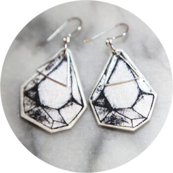 black line art rock sketch raw Vicki Leigh NEXT ROMANCE earrings