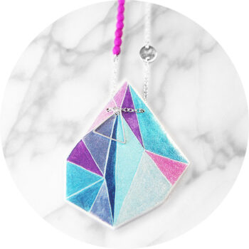 next romance triangle art pendant ocean rose necklace assymetrical funky