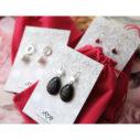 black and gold gem earrings polymer next romance jewellery australia vicki leigh