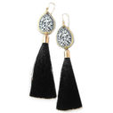 black gold diamond art tassel earrings etch NEXT ROMANCE jewellery