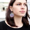 cathedral daisy mandala earrings