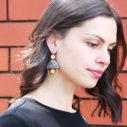 gypsy chain morocco art tile earrings gold JULZ model Next romance new