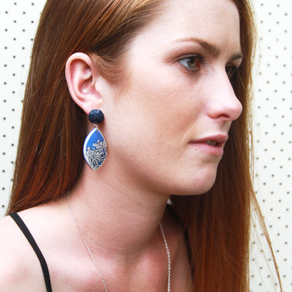 model chrysanthemum earring drop oct stud next romance vicki lee leigh