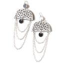 moon chain funky art earrings SPOTS next romance jewellery australia