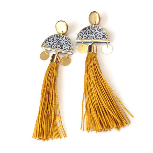 MARRAKESH gypsy boho tassel art earrings – choose tassel colour
