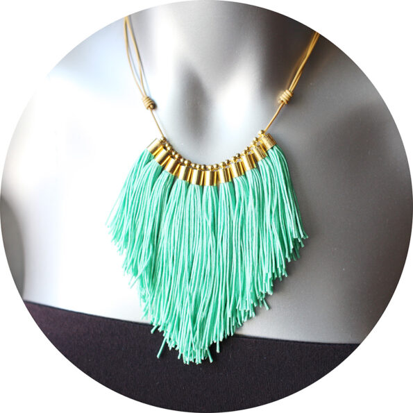 peppermint frange tassel necklace new next romance jewelry