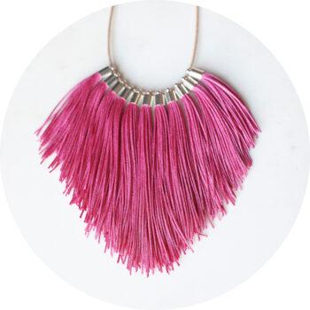 pink fringe tassel necklace new next romance jewelry