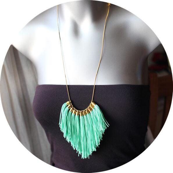 tassel fringe necklace minty green next romance jewels australian