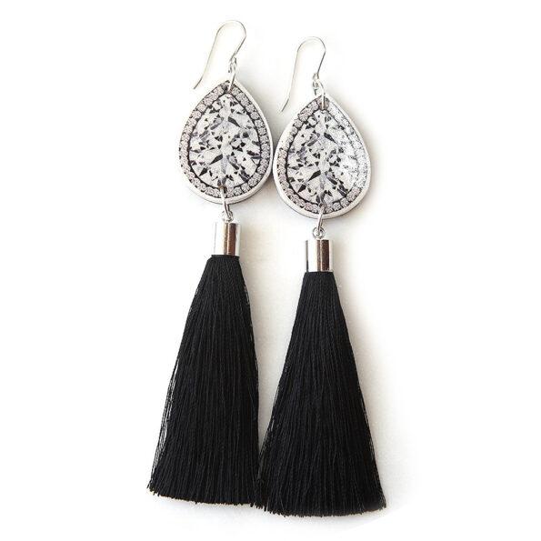 unique diamond art tassel earrings next romance jewellery australia