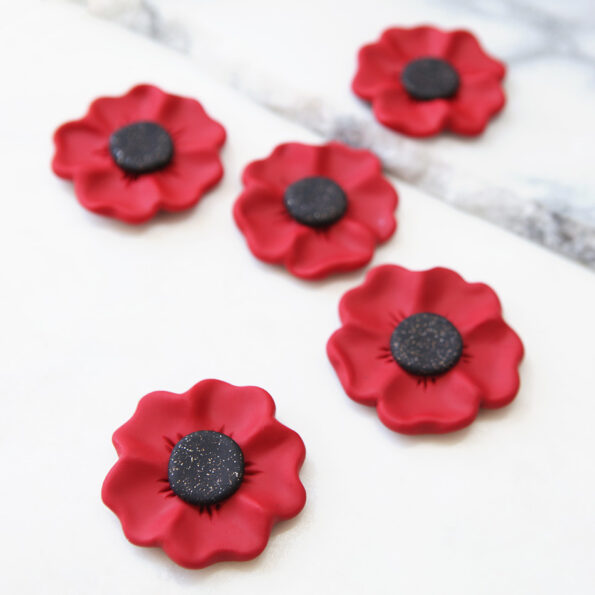 unique poppy brooch handmade in australia NEXT ROMANCE new vicki leigh ANZAC