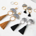 Limitless LUXE black tassel earrings sizes options ALL