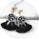 black triple tassel earrings byron morocco design new next romance jewellery